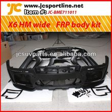 FRP HM style Auto wide body styling for BMW X6 body skirts car body spoiler kit