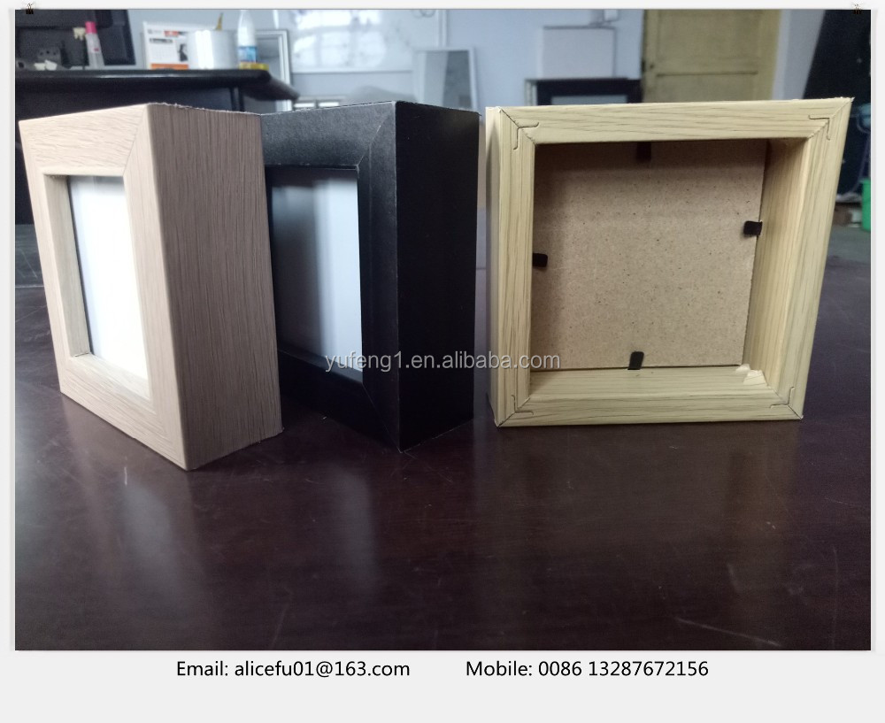 Bulk selling 4x4 6x6 gifts square wooden glass photo frame picture frame