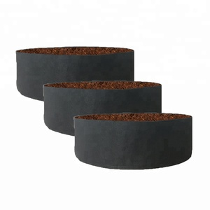 Round non-woven plant pot breathable fabric raised planting bed