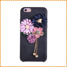 New design real flower pu leather back cover case for iphone 7 7 plus