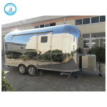 ice cream food crepe trailer kiosk fast bbq food cart catering stainless steel mobile food trailer