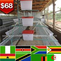 79 dollars Tanzania Uganda Kenya quality egg chicken cage/battery design layer chicken cages