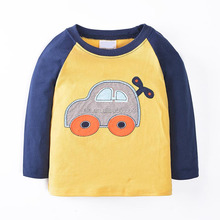 Baby cotton t-shirts cheap stylish China breathable embroidered boys girls striped OEM t-shirts