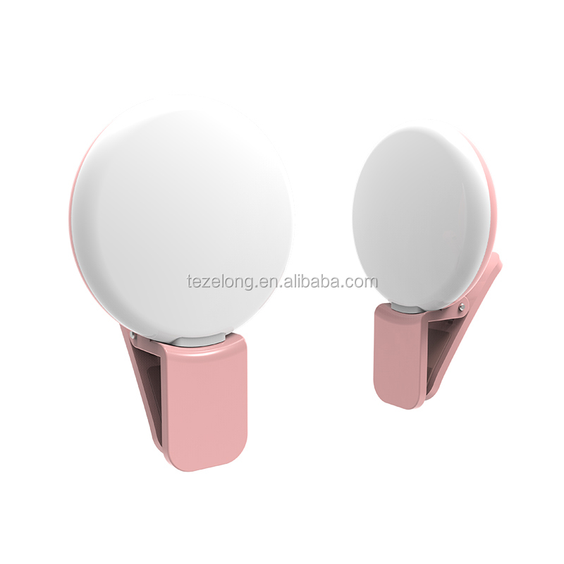 Clip-on Selfie Ring Light For Smartphone iPhone iPad Samsung Smartphone Selfie Portable Flash