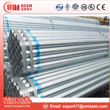 light weight hot dip galvanized steel pipe round or square tube manufactured in China