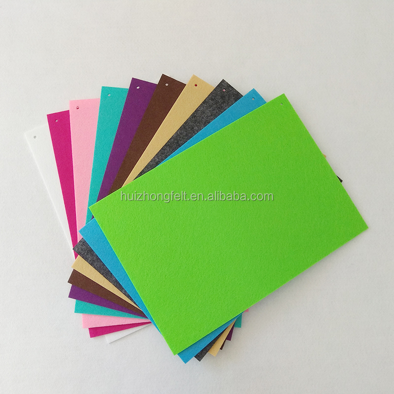 1mm 2mm 3mm and 5mm colorful stiff polyester felt sheets