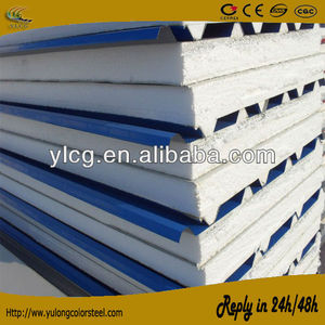 Metal EPS sandwich roof panel/Polystyrene foam composite roof