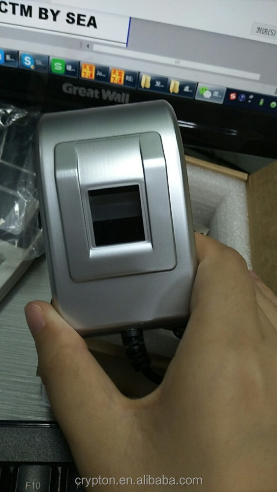 Silver USB fingerprint reader,SDK fingerprint reader