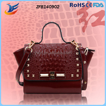 high quality fashion crocodile grain handbag