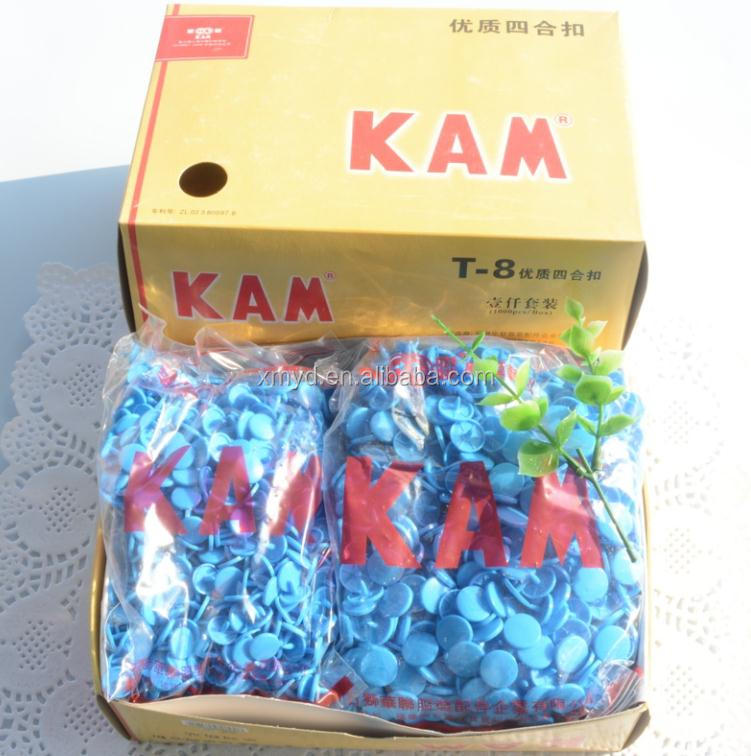 Good Price KAM Brand T8 Snaps 60 Colors In Stock, Size 24 KAM Snap Fasteners