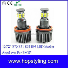 Direct Factory Brand new 120W CR-EE Angel eyes for BMW ,New Error Free High Power 120W LED Marker Angel Eyes For BMW E92 E87