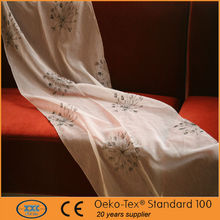 wondeful flower design embroidery organza embroidered curtains fabrics