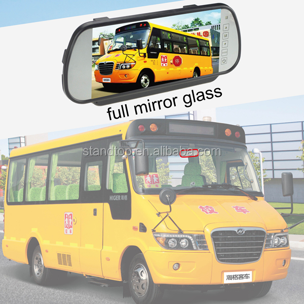Full HD Mirror Glass 7 Tft Lcd Rearview Mirror Car Monitor