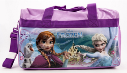 2016 hot sales cheap polyester Frozen Elsa and Anna Duffle Bag