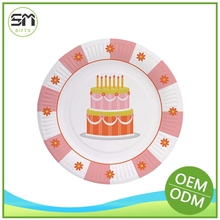 In many styles new arrival paper plate with birthday cake