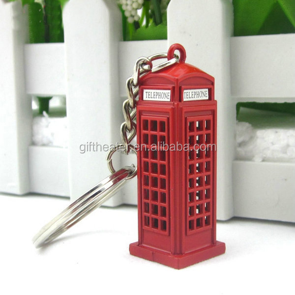 Hot sale telephone booth keychain keychain london souvenir items