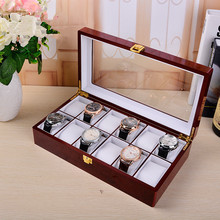 High quality mens wooden watch box 12 slots cheap wooden watch box organizer