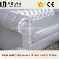 Manufacturer F204 High Quality European Style Antique Leather Sofa