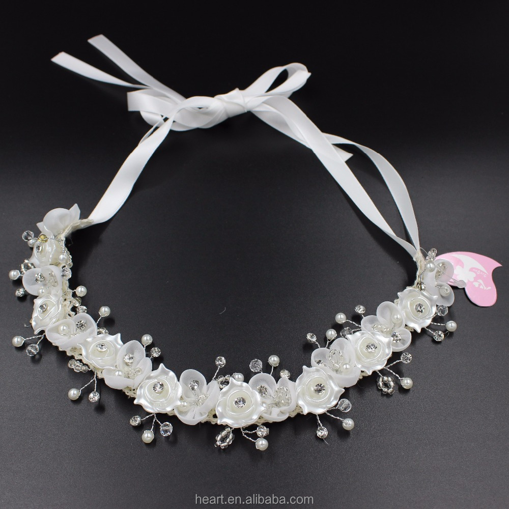 high quality beautiful bridal floral headband bridal flower hair for wedding 89163