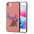 3D embroidery TPU gel case cover for iPhone 7, Cute bear case for iPhone 8