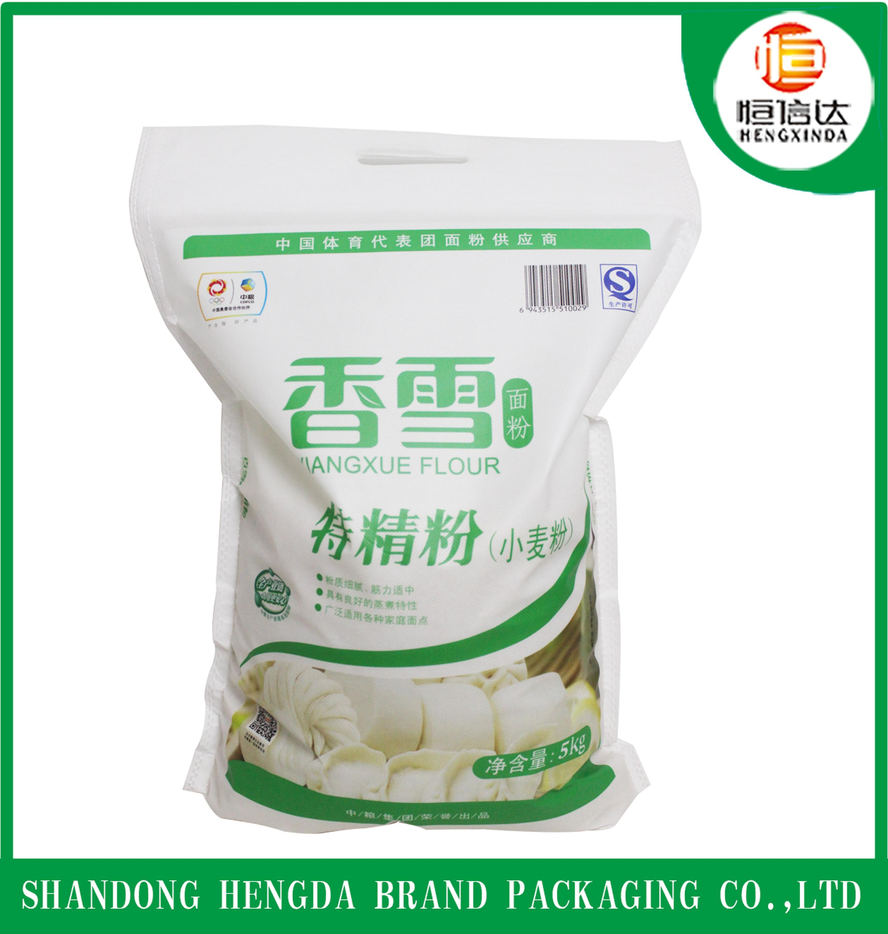 good quality for food cheap china factory supply 25 kg/50kg wheat flour rice pp nonwoven bag