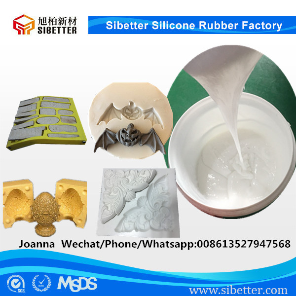 RTV2 Liquid Silicone Rubber for Stamping Concrete Molds Making