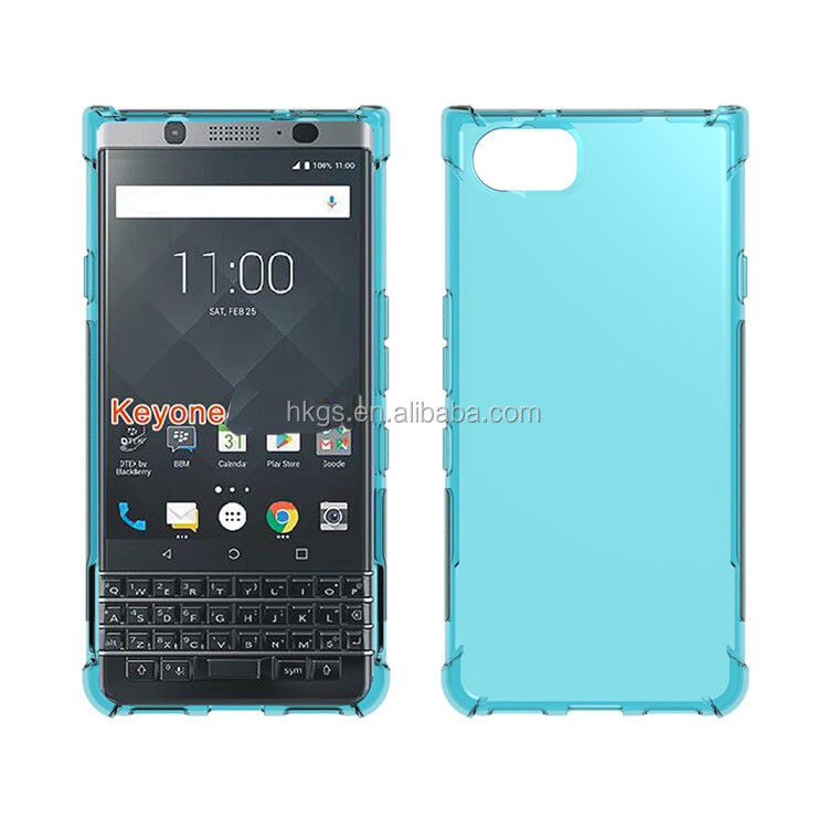Soft Gel Shock Absorption Edge TPU Cover Full Clear Case For Blackberry Keyone DTEK70