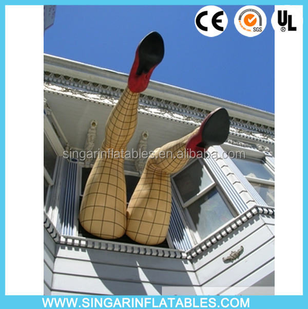 Attractive inflatable giant legs,inflatable lady legs,inflatable leg arts