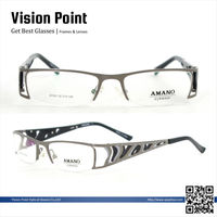 Wholesale Fashion Men Rectangle Half Rim Metal Eyeglasses Beautiful Fancy Glasses Frames
