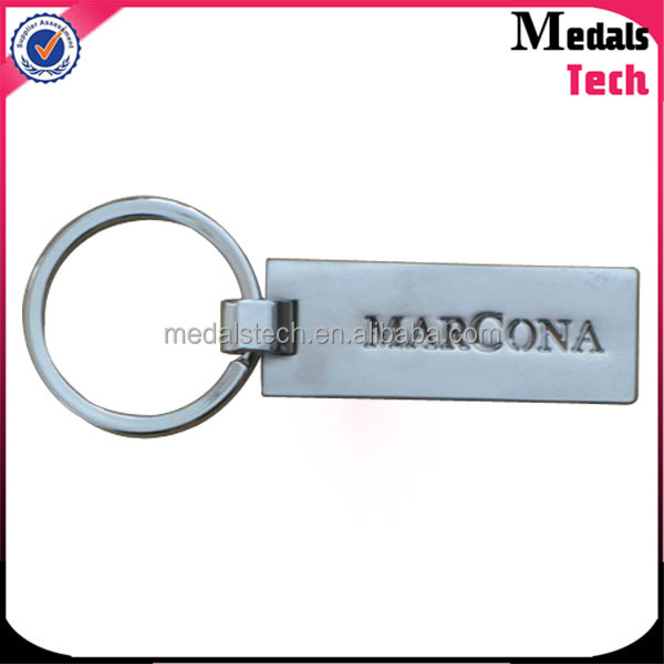 Promotional colorful zinc alloy antique plated engraving logo custom metal name keychain