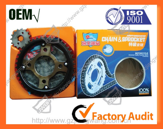 Reasonable Price Motorcycle Chain and Sprocket Kit for Wheels