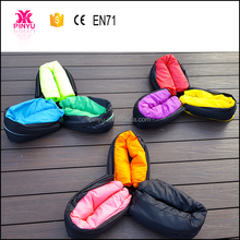 2016 new model square 260*70 cm sleeping beach sofa lounge laybag with Led light and ground loops