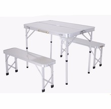 outdoor aluminum picnic table bench set