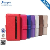 Veaqee factory sale wallet card holder mobile phones leather case for iphone 6