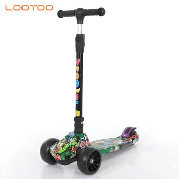Wholesale new sport multifunction fashion colorful adjustable weight best 3-wheel kid's street kick mini scooters for 9 year old
