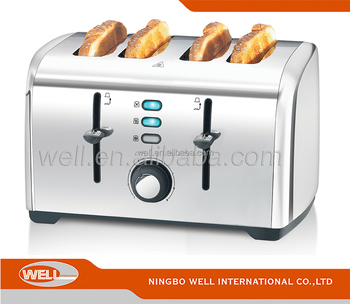 4 slice Hot dog toaster Stainless Steel BBQ toaster