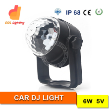 Factory wholesale DJ light car 6pcs*6W RGB 4in1 UFO LED rotating disco ball moving head beam light