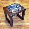 New design Mooden Wood Dog pet Feeder with Single bowl