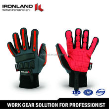 Mesh Stretch Spandex Synthetic Leather Truck Drivers Driving Gloves
