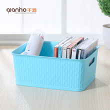 China kitchen tableware plastik container small big tub plastic multi storage box with handles
