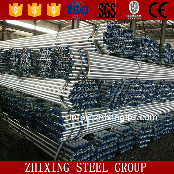 pre galvanized round erw black carbon steel pipe manufacturer price
