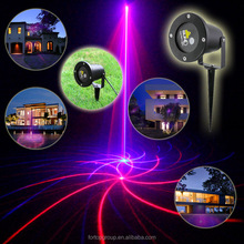 Mini Outdoor/Indoor RB Red Blue Laser Light Lighting Projector Show System Outside Landscape Garden Xmas Party Cone Stand