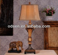 simple design restaurant oil table lamp with wooden base