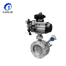 Industrial motorised electic ball butterfly valve for water equipment