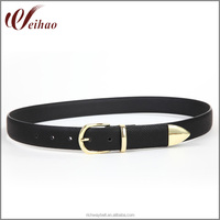 High Quality Black Snake Skin Lady Belt
