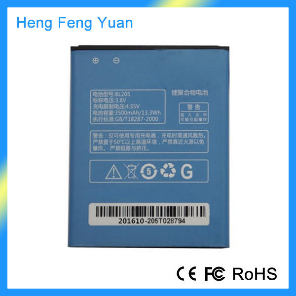 Wholesale BL205 3500mAh Rechargeable Li-Polymer Spice Mobile Battery for Lenovo P770 P700i