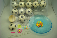 Magic Surprise Football Toy Candy With Peg-Top And Small Toy