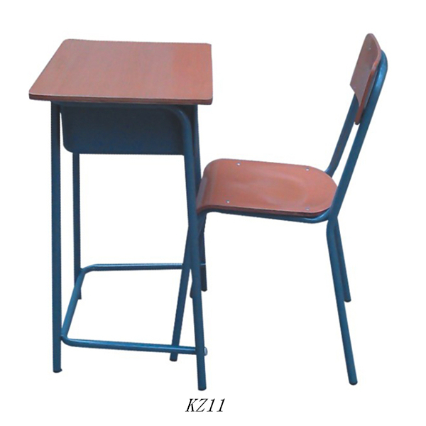 Best furniture school Single desk and chair wooden study table designs on sale KZ11