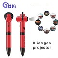 Custom 8 Differencese Project Pictures in One Projector Pen Functional Pen