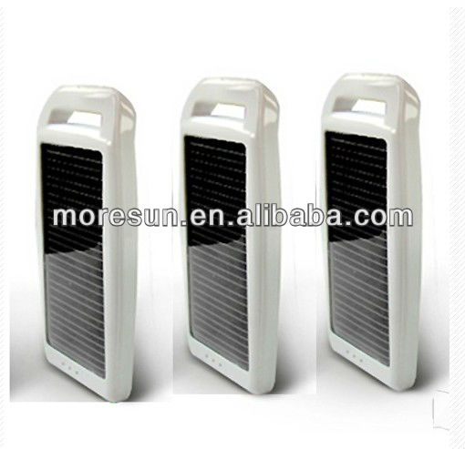 Cute festival gift 1200mAh customized portable solar electric supercharger for mobile phone with dual usb port